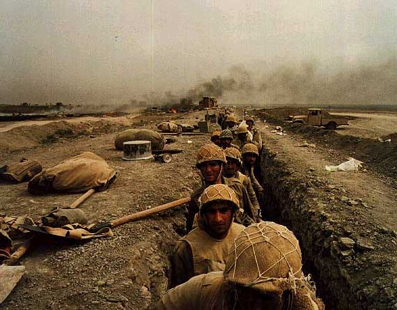 The Iraq Iran War is said to be very similar to WWI due to the similar tactics such as trench warfare